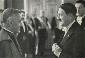 Adolf Hitler and papal nuncio Orsenigo
